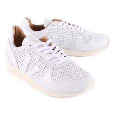Veja Perforated Leather Bastille Holiday Trainers-listing
