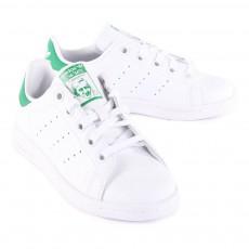 Adidas Zapatillas Cuero Cordones Elásticos Stan Smith Verde-listing