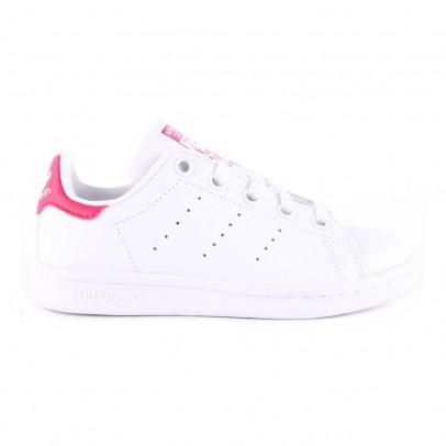 Adidas Zapatillas Cuero Cordones Elásticos Stan Smith Rosa-listing