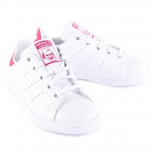 Adidas Baskets Cuir Lacets Stan Smith Rose-listing