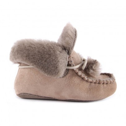 Gallucci Sheepskin-Lined Slippers-listing