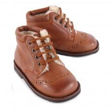 Gallucci Boots Cuir Fourrées Mouton-listing