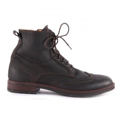 Gallucci Boots Lacets Cuir Zippées-listing