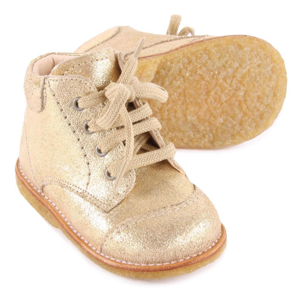 Angulus Chaussures Premiers Pas Cuir Irisé à Lacets Creek-product