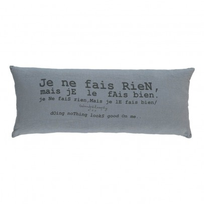 Bed and philosophy Cushion with Washed Linen Print - 30x70 cm-listing