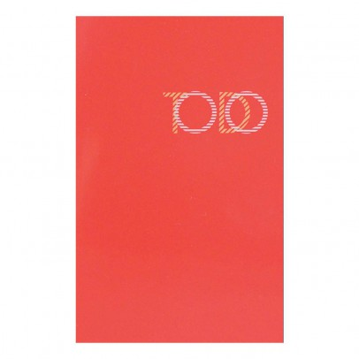 Le Typographe Bloc To do list Vernis rouge 30 feuilles-listing