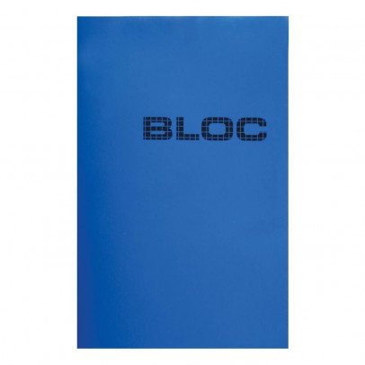 Le Typographe Bloc 'Bloc' Bleu 30 feuilles-listing