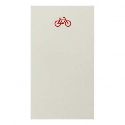 Le Typographe Mini bloc Vélo 45 feuilles-listing