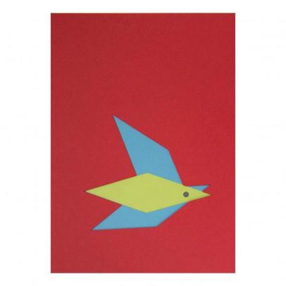Le Typographe Bloc dessin A5 pochoir oiseau 16 feuilles-listing