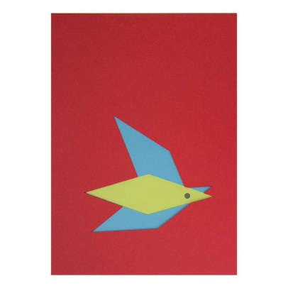 Le Typographe Bloc Dibujos A5 pájaro 16 hojas-listing