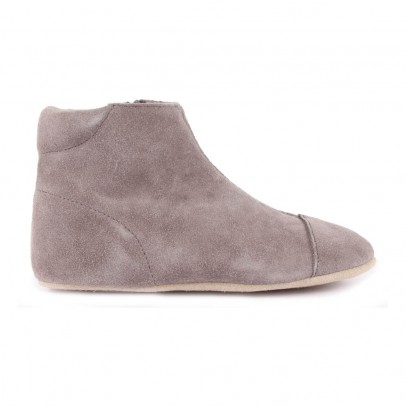 Petit Nord Suede Slippers with Zip-listing