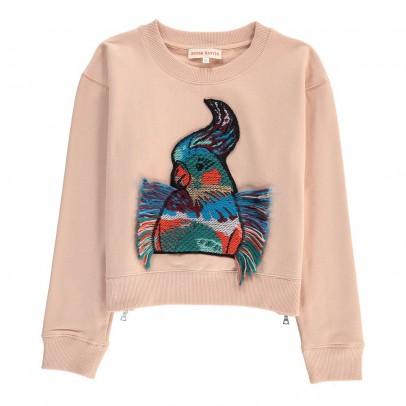 ANNE KURRIS Sweat Oiseau Brodé Zip-listing