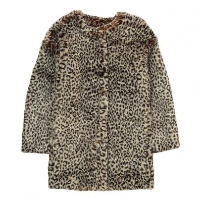 ANNE KURRIS Faux Fur Leopard Bunny Coat-listing