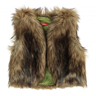 Bakker made with love Aena Sleeveless Fur Cardigan-listing
