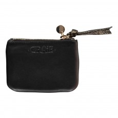 Craie Iridescent Leather Zip-Around Mini Finance Purse-listing
