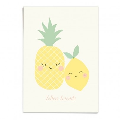 Zü A3 Yellow Friend Poster-listing