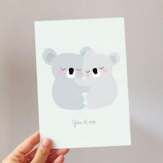 Zü Tarjeta Grande You and me koalas-listing