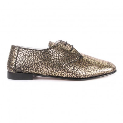 Craie Textured Leather Jane Derby Shoes-listing
