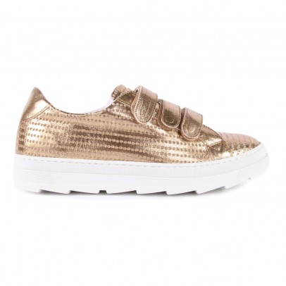 Craie Perforated Leather Velcro Last Trainers-listing
