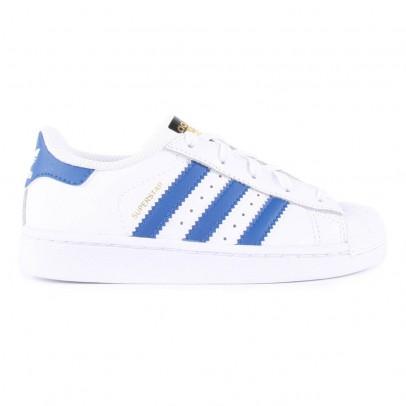 Adidas Zapatillas Cuero Cordones Superstar Azul-listing
