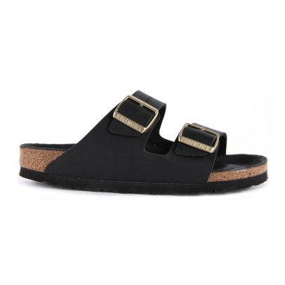 Birkenstock Sandales Cuir Boucle Dorée Arizona-listing