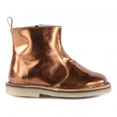 Pèpè Lined Metallic Leather Boots with Zip-listing