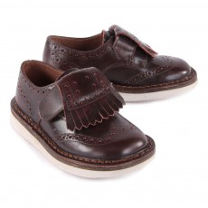 Pèpè Derbies Velcro Leather Trainers with Removable Fringe-listing
