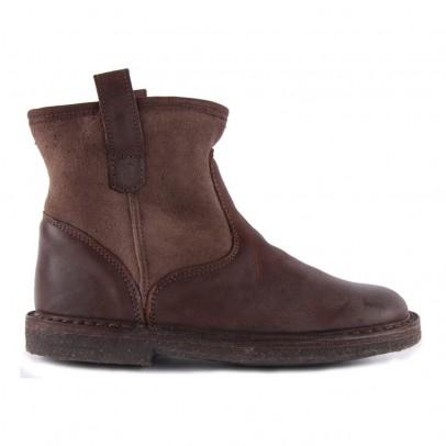 Pèpè Boots Suède Fourrées Mouton Enfilables-listing