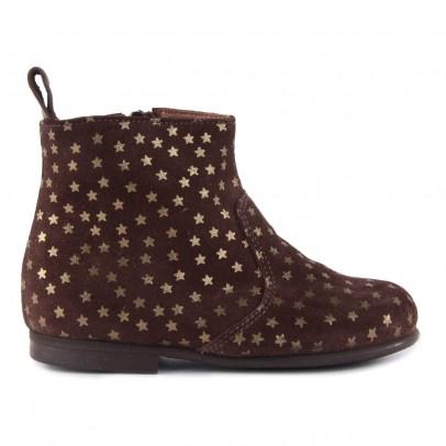 Pèpè Boots Zippées Suède Etoiles-listing