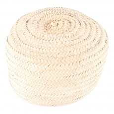 Smallable Home Woven Palm Leaf Pouffe-listing