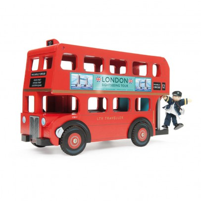 Le Toy Van Bus di Londra e autista-listing