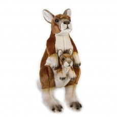product-National Geographic Kangeroo and Baby Cuddly Toy 44cm