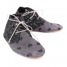 Anniel Heart and Glitter Derby Shoes-listing
