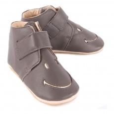 Easy Peasy Easy Peasy X Smiley Kiny Smiley Velcro Leather Slippers-listing