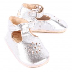 Easy Peasy Lilly Iridescent Leather Baby Shoes-listing