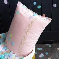 La cerise sur le gâteau Coussin Lina confettis-listing