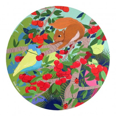 Little Cabari Puzzle rond animaux-listing