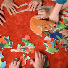 Little Cabari Puzzle Redondo Animales-listing