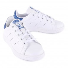 Adidas Baskets Cuir Lacets Stan Smith Bleu-listing