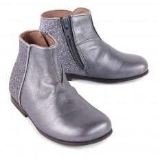Pèpè Boots Zippées Cuir et Paillettes-listing