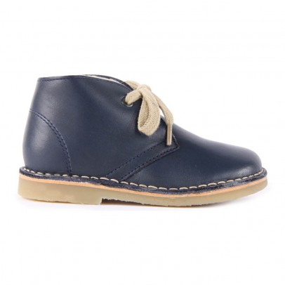 Petit Nord Lined Leather Laceup Boots-listing
