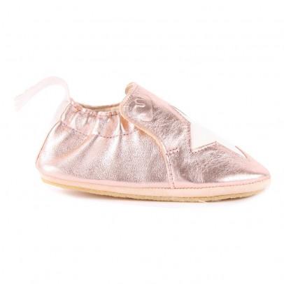 Easy Peasy Blublu Star Iridescent Leather Slippers-listing