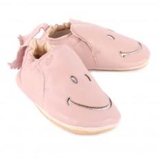 Easy Peasy Easy Peasy X Smiley Blublu Smiley Iridescent Leather Slippers-listing