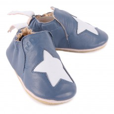 Easy Peasy Star Blublu Leather Slippers-listing