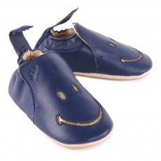 Easy Peasy Easy Peasy X Smiley Blublu Smiley Leather Slippers-listing