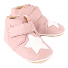 Easy Peasy Chaussons Cuir Scratch Etoile Kiny-listing