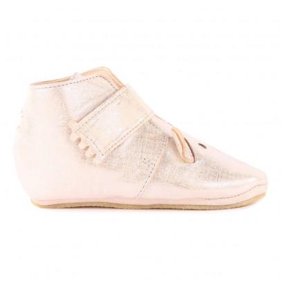 Easy Peasy Kiny Teddy Iridescent Velcro Leather Slippers-listing