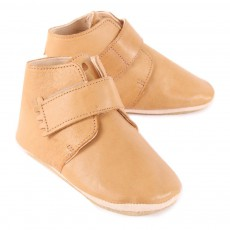 Easy Peasy Kiny Velcro Leather Slippers-listing