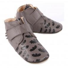 Easy Peasy Kiny Batman Velcro Leather Slippers-listing