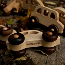 Wooden Story Macchina in Legno Stile Anni 30-listing